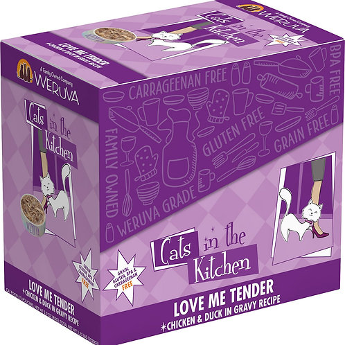 Weruva Love Me Tender Chicken & Duck Wet Cat Food, 3oz, pack of 12
