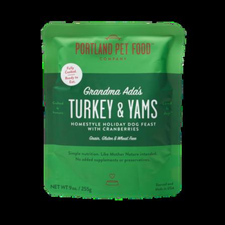 Portland Pet Food Grandma Ada's Grain Free Turkey & Yams Dog Meal