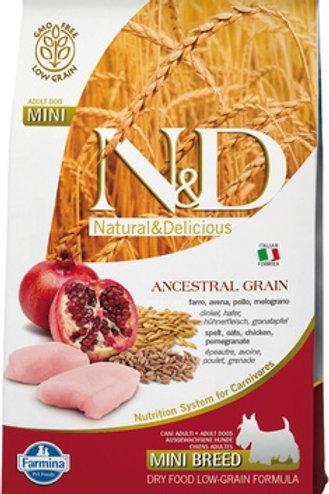 Farmina N&D Ancestral Grain Chicken & Pomegranate Mini Adult Dry Dog Food