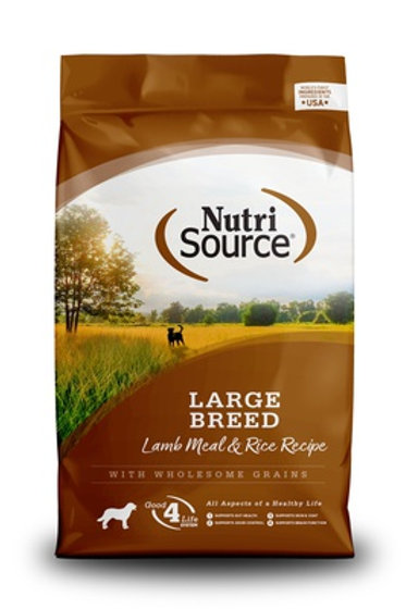 NutriSource Large Breed Adult Lamb and Rice Dry Dog Food