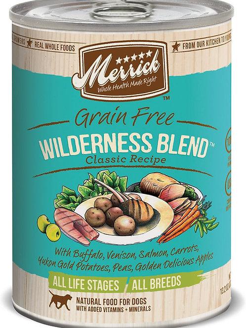 Merrick Wilderness Blend Canned Dog Food, 12.7-oz, case of 12