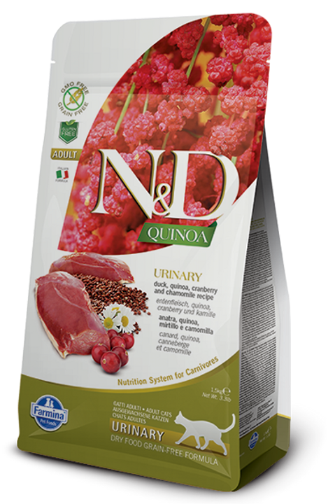 Farmina N&D Quinoa Urinary Duck Dry Cat Food
