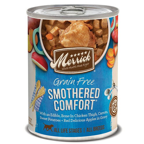 Merrick Smothered Comfort Canned Dog Food, 12-oz, case of 12