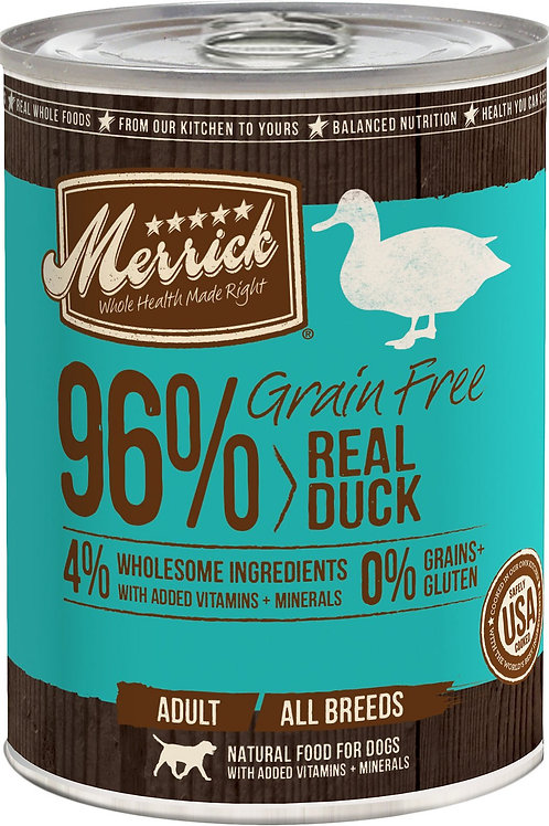 Merrick Real Duck Canned Dog Food, 12.7-oz, case of 12