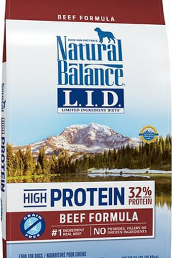 Natural Balance Grain Free L.I.D. High-Protein Beef Formula Dry Dog Food