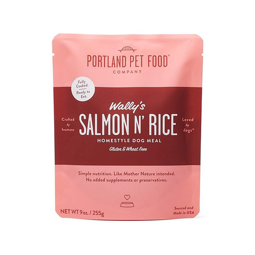 Portland Pet Food Wally's Salmon N' Rice Meal Pouch