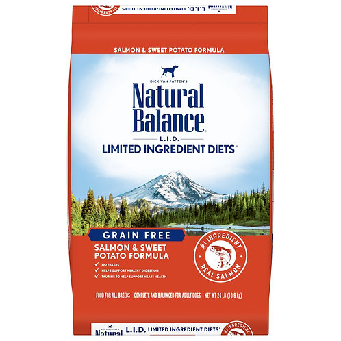 Natural Balance Grain Free L.I.D. Salmon & Sweet Potato Dry Dog Food