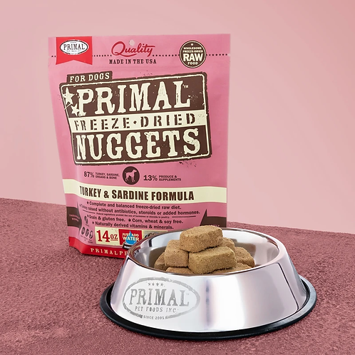 Primal Freeze-Dried Turkey/Sardine Nuggets