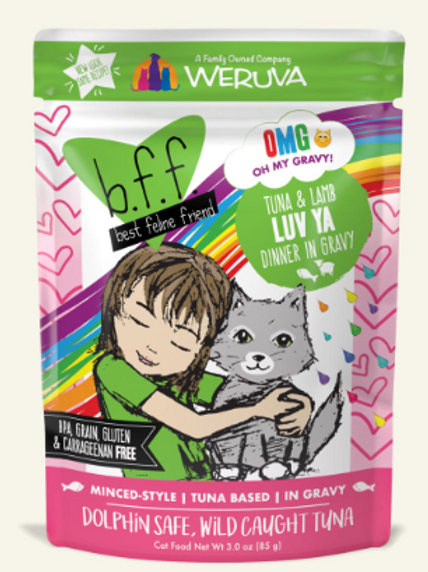 BFF Luv Ya Tuna & Lamb Dinner Wet Cat Food, 3-oz, pack of 12