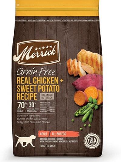 Merrick Grain Free Chicken + Sweet Potato Dry Dog Food