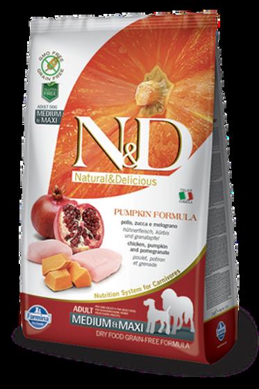 Farmina N&D Pumpkin Chicken & Pomegranate Adult Medium & Maxi Dog Dry Food