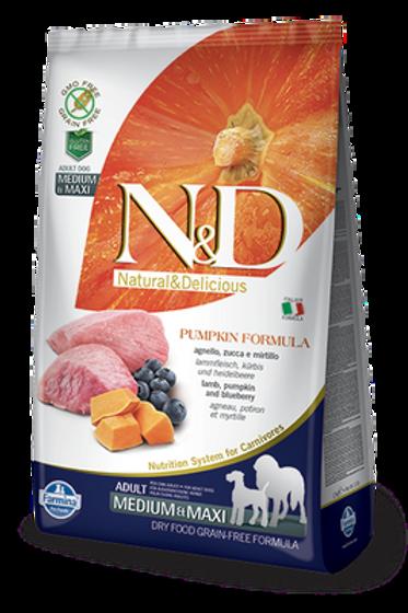 Farmina N&D Pumpkin Lamb & Blueberry Adult Medium & Maxi Dog Dry Food