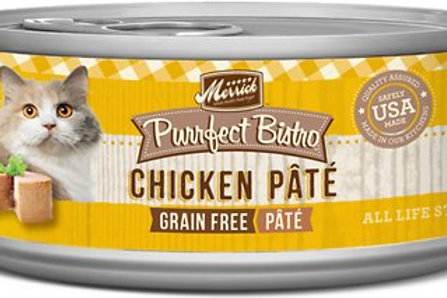 Merrick Purrfect Bistro Chicken Pate Canned Cat Food, 5.5-oz, case of 24