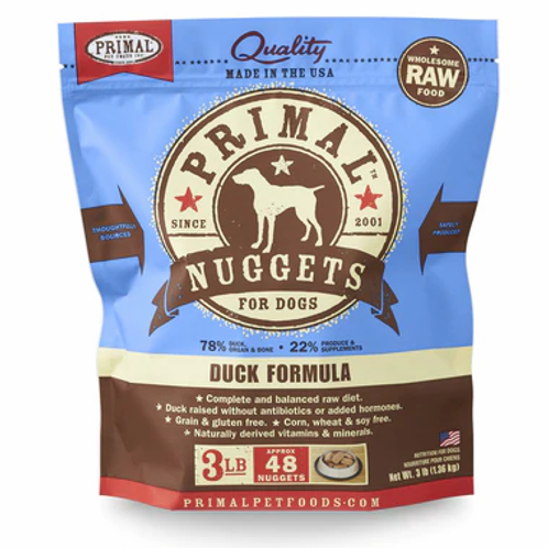Primal Duck Frozen Nuggets 3lbs