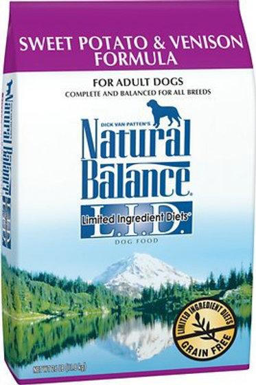 Natural Balance Grain Free L.I.D. Sweet Potato & Venison Dry Dog Food