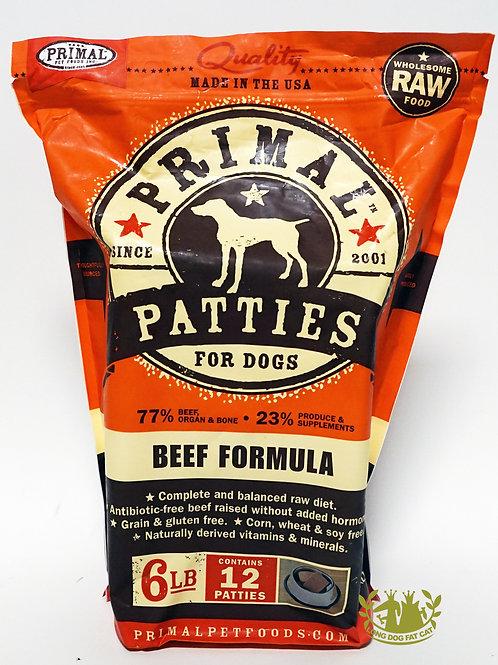 Primal Beef Frozen Patties 6lbs