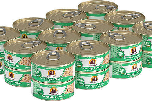 Weruva Green Eggs & Chicken Canned Cat Food, 5.5oz, case of 24