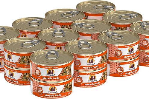 Weruva Marbella Paella Mackerel/Shrimp/Mussels Canned Cat Food, 5.5oz case of 24
