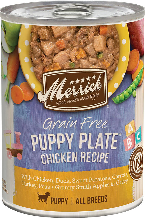 Merrick Puppy Plate Chicken Recipe Wet Dog Food, 12.7-oz, case of 12
