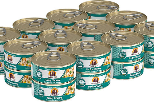 Weruva Funky Chunky Chicken Soup Canned Cat Food, 5.5oz, case of 24