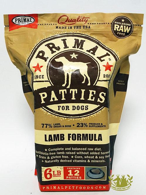 Primal Lamb Frozen Patties 6lbs