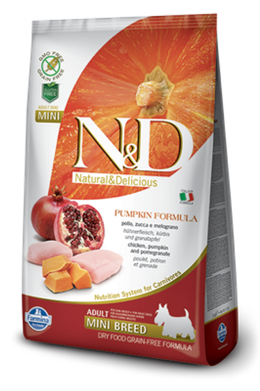 Farmina N&D Pumpkin Chicken & Pomegranate Adult Mini Dog Dry Food