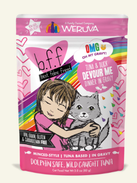 BFF Devour Me Tuna & Duck Dinner Wet Cat Food, 3oz, pack of 12