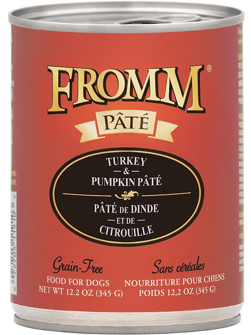 Fromm Turkey & Pumpkin Pate Canned Dog Food, 12.2-oz, case of 12