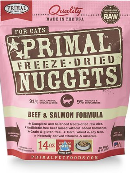 Primal Cat Freeze-Dried Beef/Salmon Nuggets