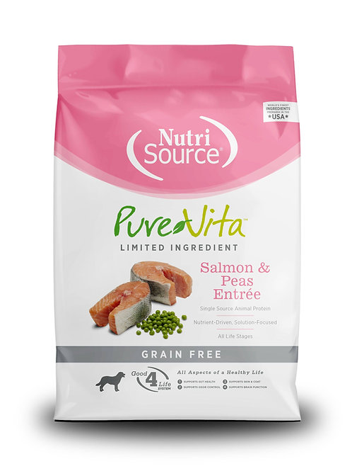 PureVita Grain Free Salmon & Peas Formula Dry Dog Food