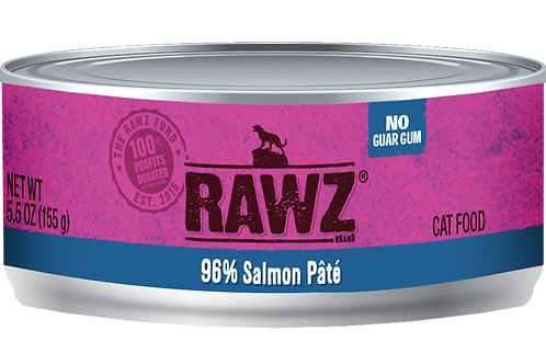 RAWZ Cat 96% Salmon Pate, case of 24