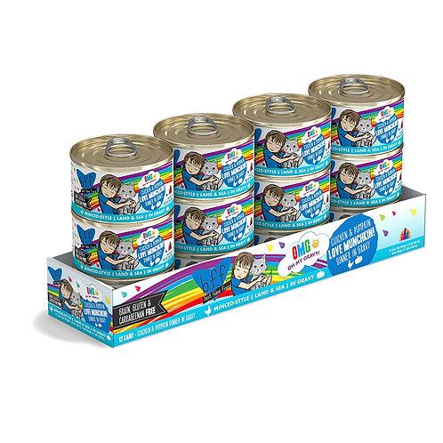 BFF Love Munchkin! Chicken & Pumpkin Canned Cat Food, 2.8oz. case of 12