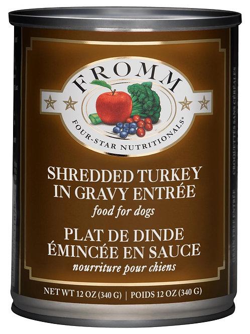 Fromm Shredded Turkey in Gravy Entrée Wet Dog Food, 12-oz, case of 12