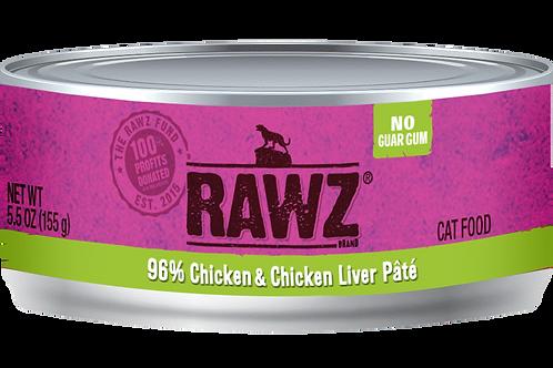 RAWZ Cat 96% Chicken & Chicken Liver Pate, case of 24