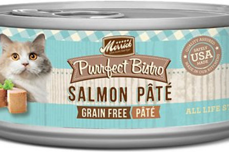 Merrick Purrfect Bistro Salmon Pate Canned Cat Food, 5.5-oz, case of 24