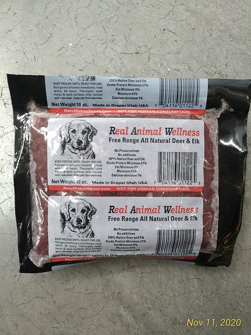 Rever Animal Nutrition Deer/Elk Raw Dog Food 1#
