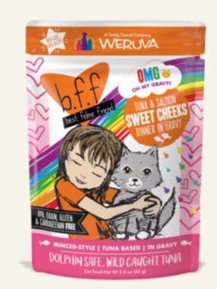 BFF Sweet Cheeks Tuna & Salmon Dinner Wet Cat Food, 3oz, pack of 12