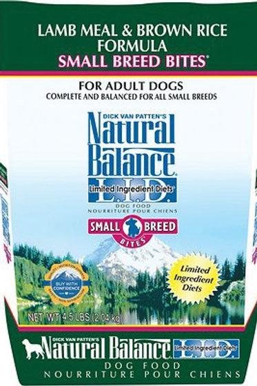Natural Balance Small Breed L.I.D. Lamb Meal & Brown Rice Dry Dog Food