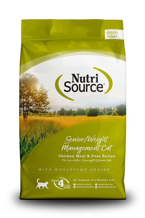NutriSource Senior/Weight Management Chicken and Rice Dry Cat Food