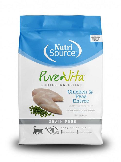 PureVita Grain-Free Chicken & Peas Entree Dry Cat Food