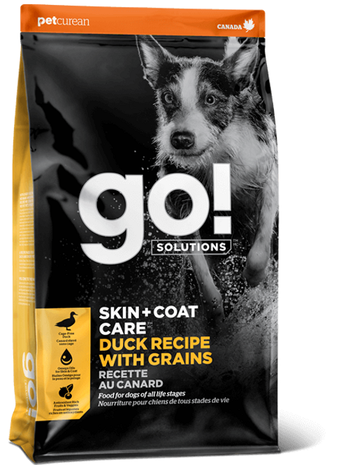 Petcurean GO! Skin + Coat Care Duck With Grains Dry Dog Food