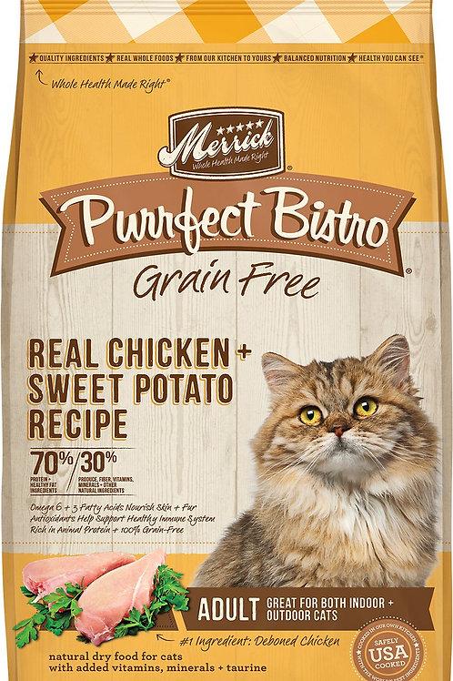 Merrick Grain-Free Purrfect Bistro Chicken & Sweet Potato Dry Cat Food