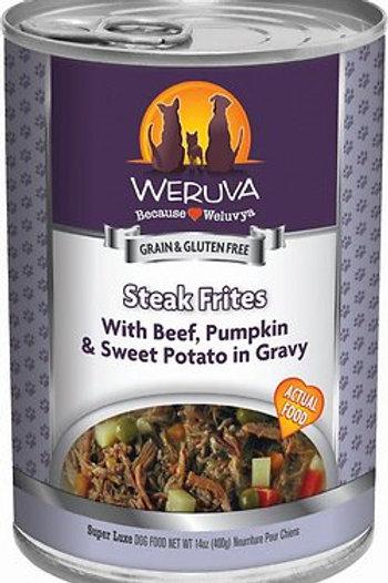 Weruva Steak Frites Beef, Pumpkin/Sweet Potatoes, 13oz, case of 12