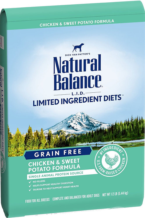Natural Balance Grain Free L.I.D. Chicken & Sweet Potato Dry Dog Food