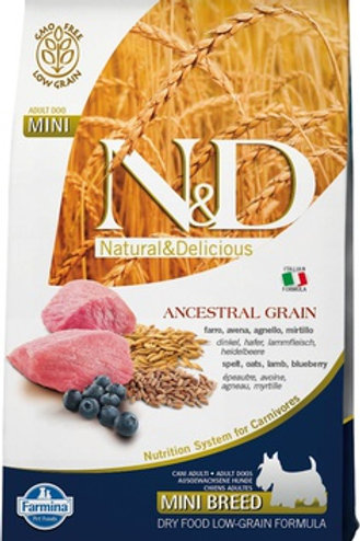 Farmina N&D Ancestral Grain Lamb & Blueberry Mini Adult Dry Dog Food