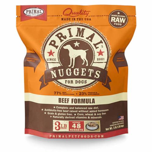 Primal Beef Frozen Nuggets 3lbs
