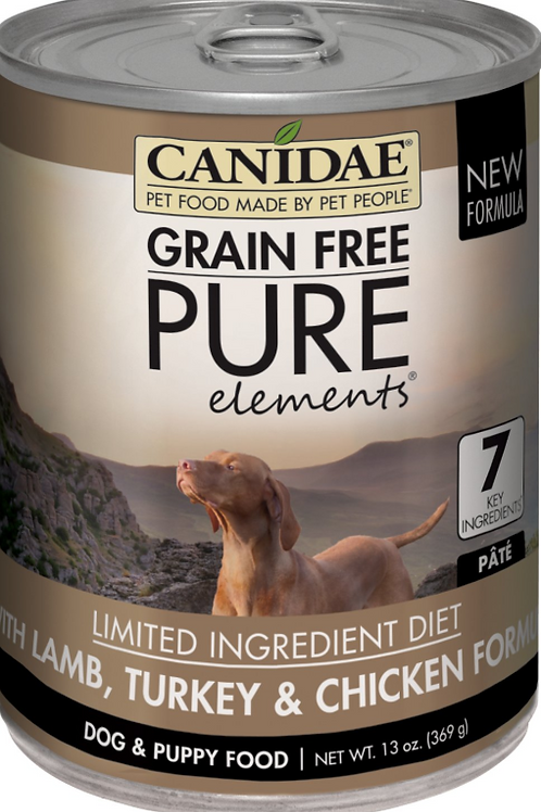 Canidae PURE Lamb, Turkey & Chicken Formula Canned Dog Food, 13oz, case of 12