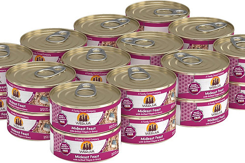Weruva Mideast Feast with Grilled Tilapia Canned Cat Food, 5.5oz, case of 24