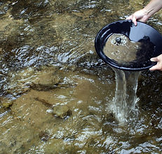 Panning for gold in a northern michigan