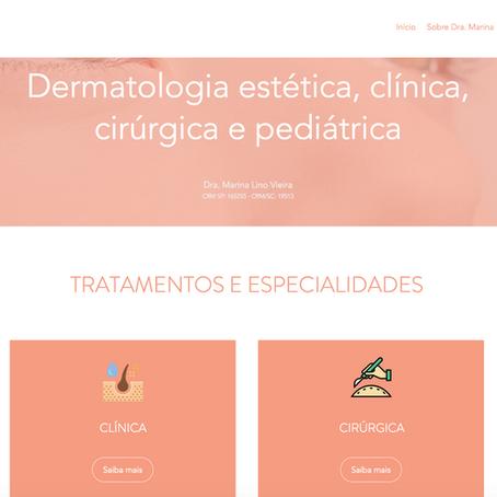 Bem vindos ao site Dra. Marina Lino Dermatologia
